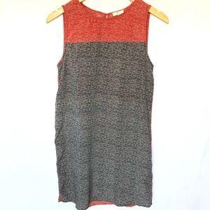 Joie Color Block Silk Red/Black/White Dress  S